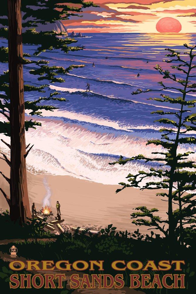 Short Sands Beach , Oregon Coastシーン 24 x 36 Giclee Print LANT-31070-24x36 B00N5CCFZS  24 x 36 Giclee Print