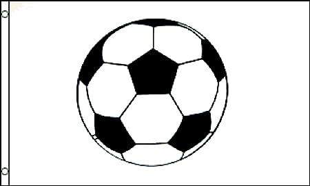 1000 Flags Bandera de fútbol, diseño de balón de fútbol, 12,7 x 7 ...