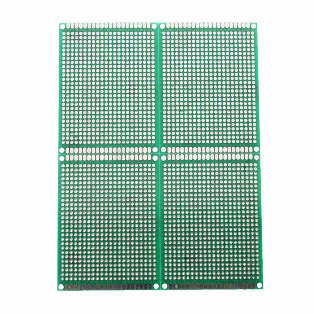 SODIAL(R) 4pcs Doble-Lado Prototipo FR-4 PCB Stripboard universal Placa de circuito impreso 6 * 8cm Tamano SHOMAGT12507