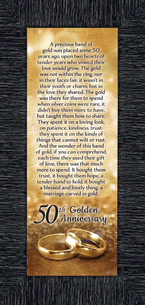 Bands of Gold, 50th Wedding Anniversary Gift Picture Frame, 6x12 7318CH