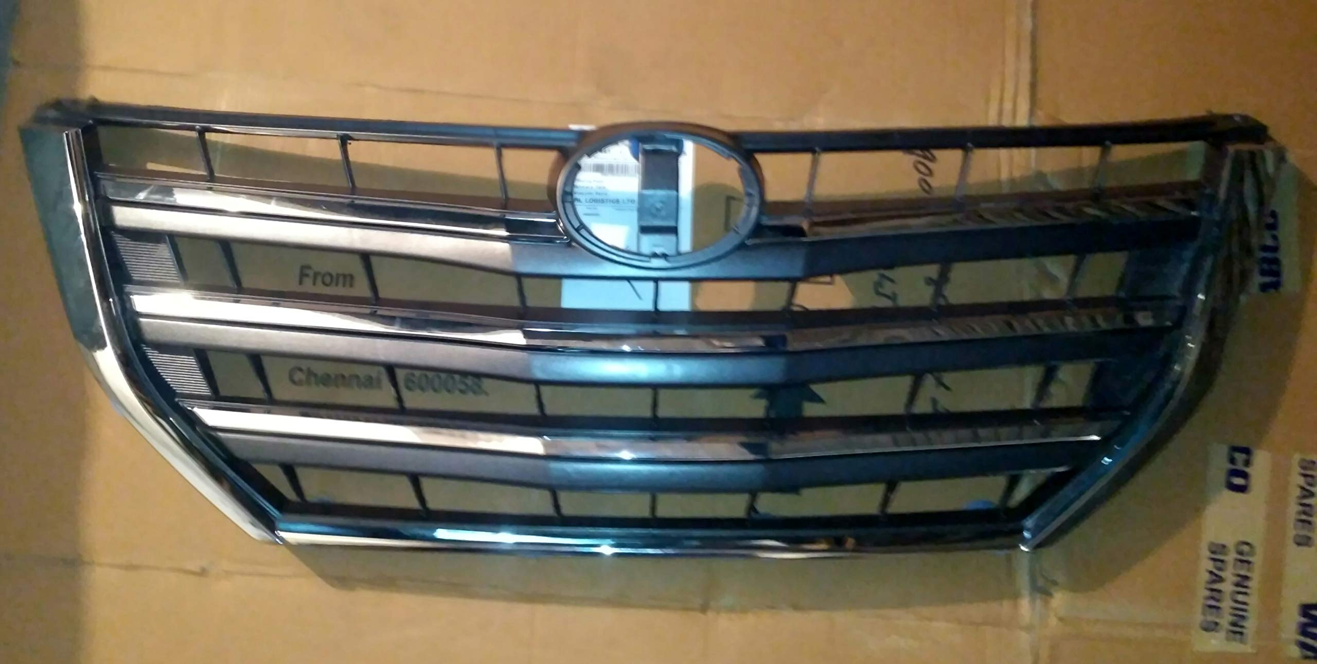MODIFIED AUTOS Front Grill for INNOVA Type 4 with CROME Moustache