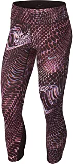 Nike Women's Power Epic Lux Crop Tight (Print) Burgundy Crush/Deep Burgundy SM