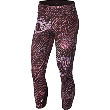 3c842b8bb6f84a Amazon.com: Nike Women's Power Epic Lux Crop Tight (Print): Clothing