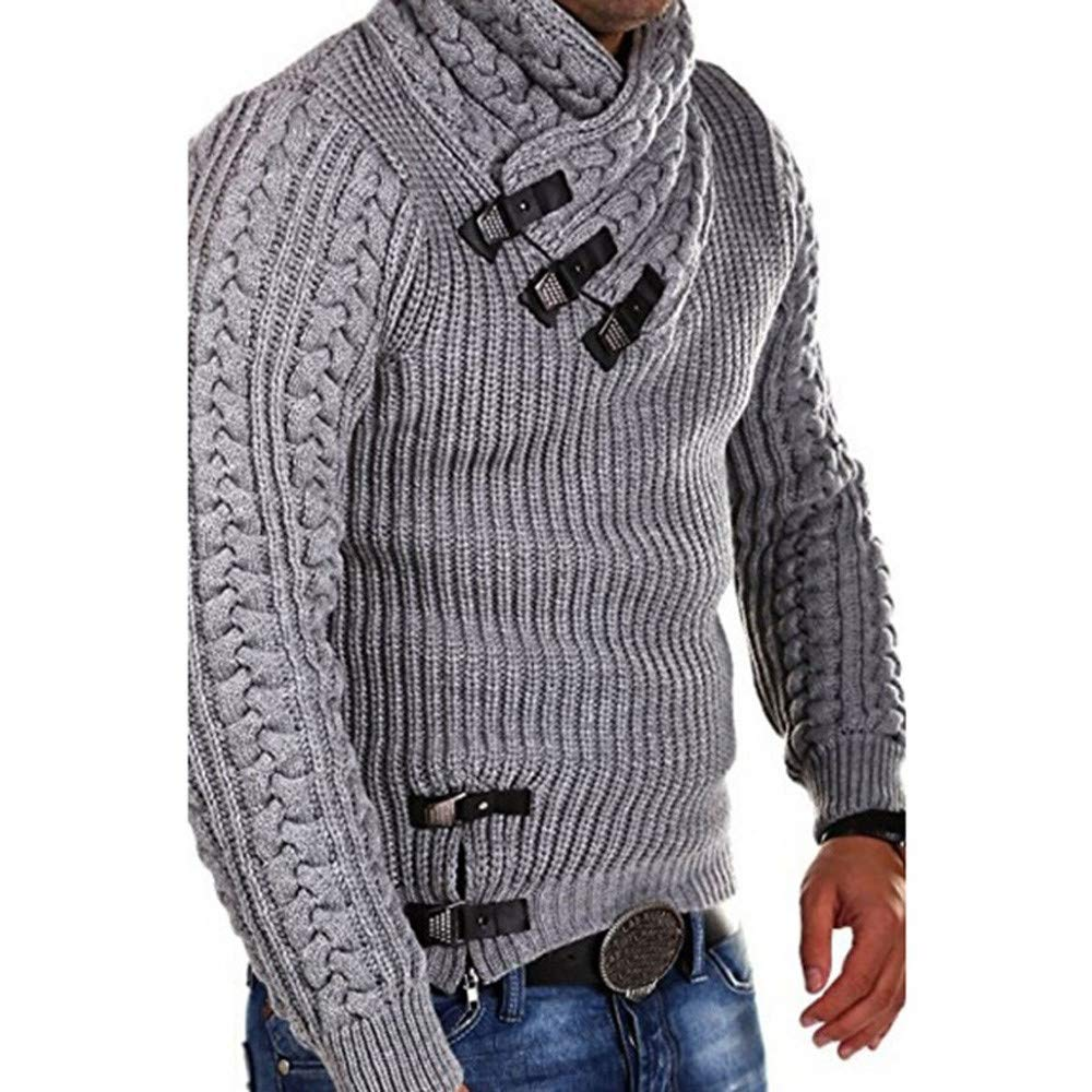 Clearance Deals, NRUTUP Men Winter Long Sleeve Solid Knitted Sweater Pullover Tops Blouse T Shirt Hot! NRUTUP-mens tops