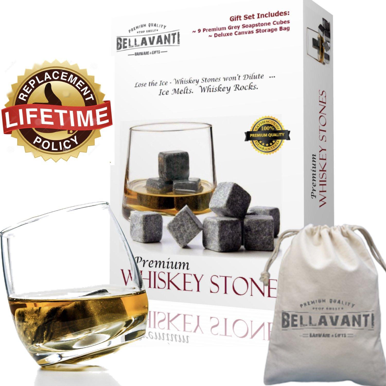 Amazon.com | Best Whiskey Stones Gift Set For Reusable Iceless Chill ...