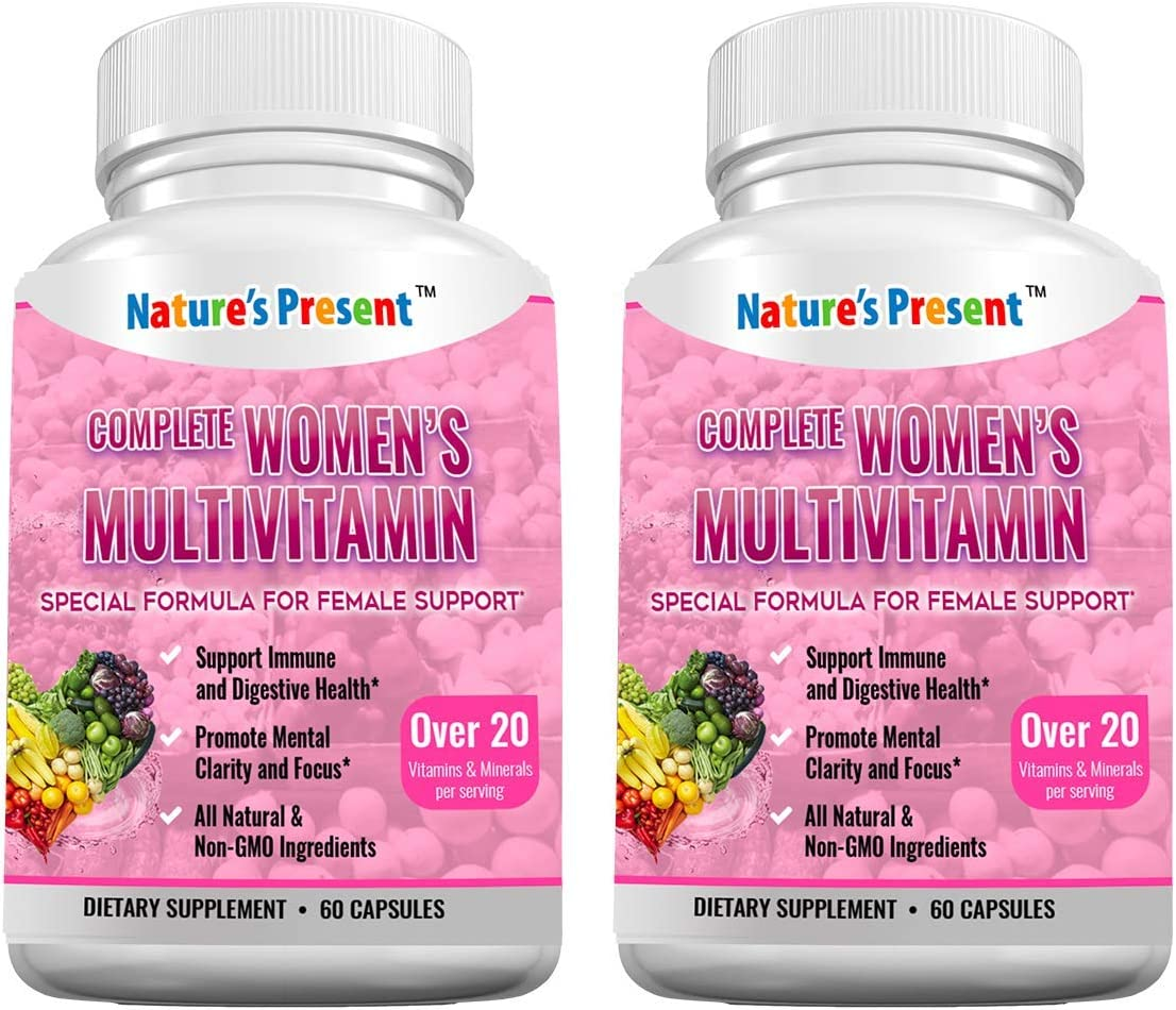 Complete Women's Multivitamin- 38 Herbs & Vitamins & Minerals for Women's Immune Support, Digestive Health, Mental Clarity and Increased Energy, GMP Certificated, Non-GMO, 120 Capsules