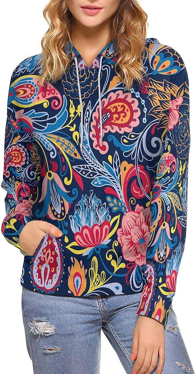 INTERESTPRINT Womens Christmas Pug Pattern Zip up Classic Jacket