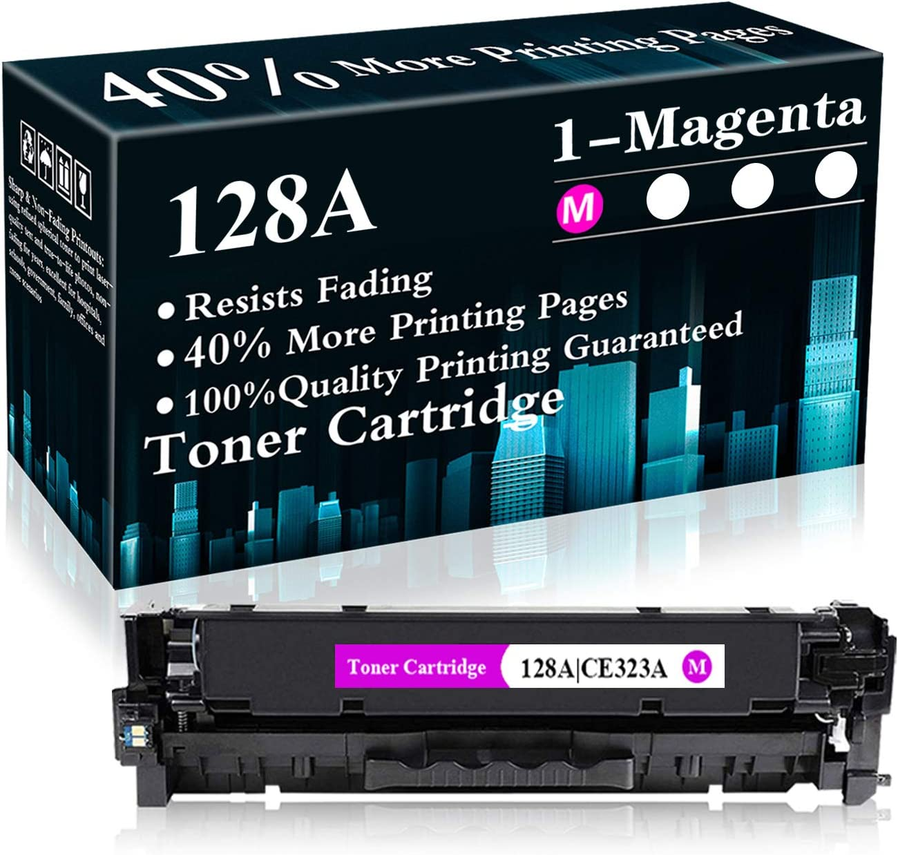 CE323A Remanufactured Toner Cartridge Replacement for HP Color Laserjet Pro CP1525n,CP1525nw,CM1415fn MFP,CM1415fnw MFP Printer,Sold by TopInk 1 Pack 128A