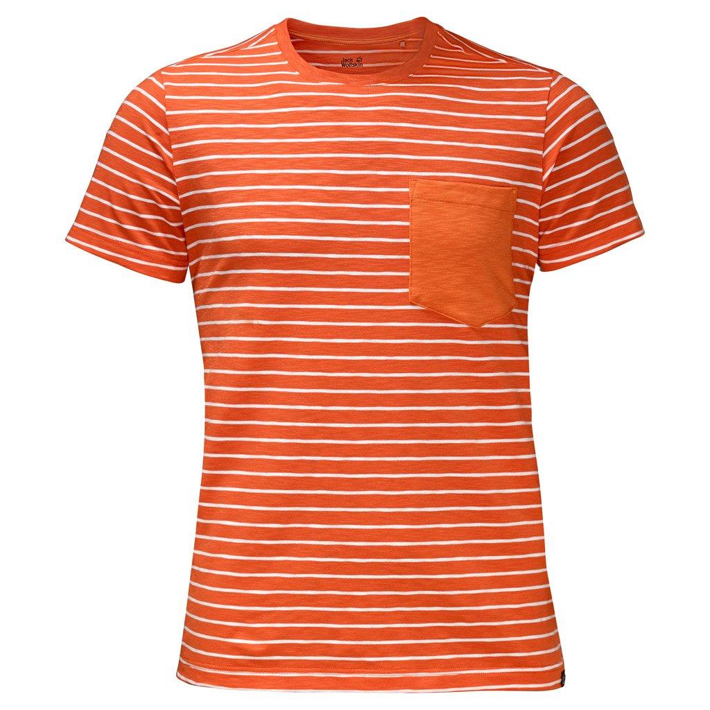 Jack Wolfskin Mens Travel Striped T-Shirt Jack Wolfskin Domestic