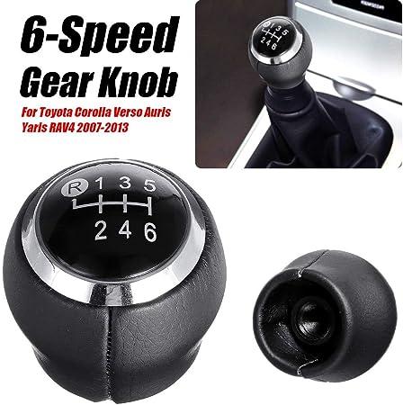 Perilla de la palanca de cambios de 6 velocidades del auto para Toyota Corolla Verso Auris Yaris RAV4 2007-2013
