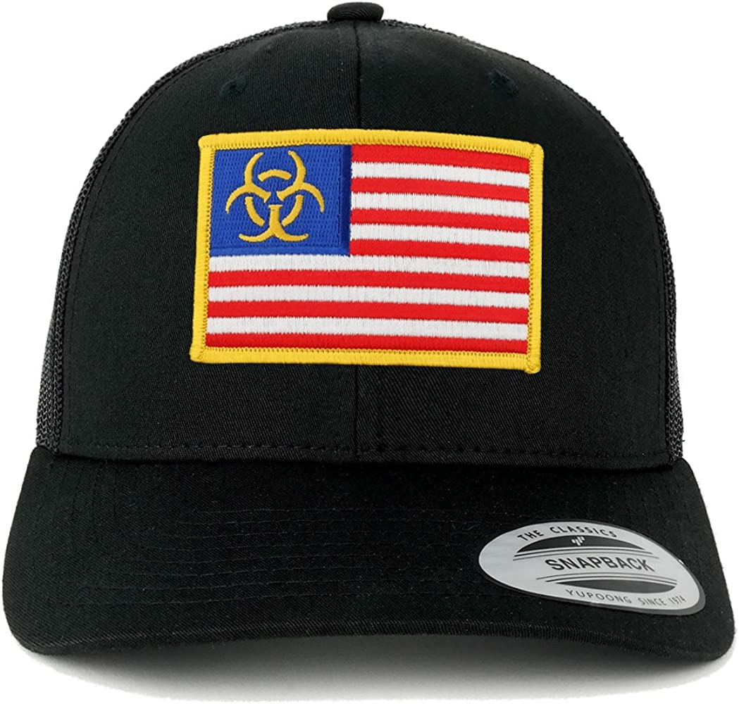 Custom Camo Mesh Trucker Hat Lady Statue Liberty America Embroidery One Size