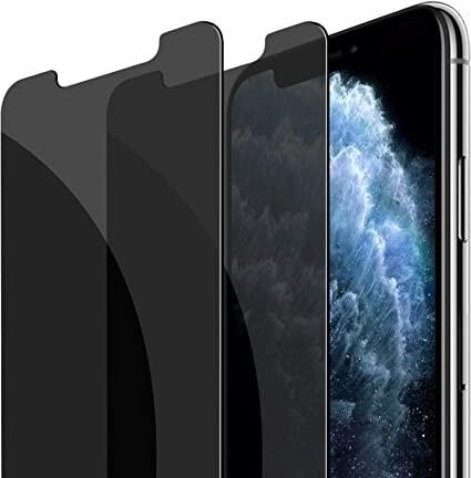Anti Spy Tempered Glass Film 2-Pack JETech Privacy Screen Protector for iPhone 11 Pro Max and iPhone Xs Max 6.5-Inch
