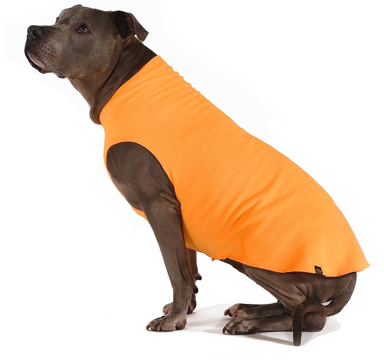 gold Paw Stretch Fleece Dog Coat Blaze orange Size 6