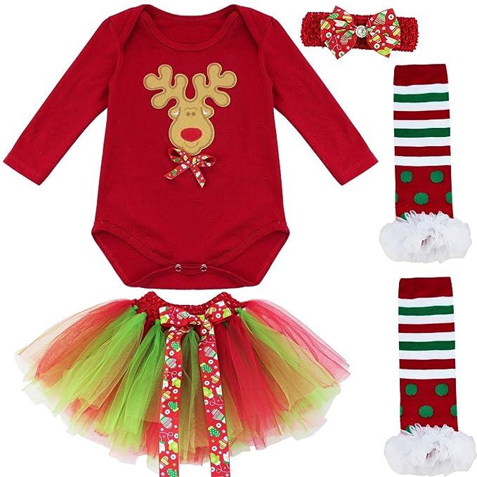 iiniim Conjunto Infantil de Navidad Ceremonia Vestido de Princesa para Bebé Niña Pelele de Algodón de Invierno Otoño Árbol de Navidad S: Amazon.es: Ropa y ...