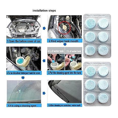 Ángeles – -Car parabrisas ventana cristal concentrado limpiador Auto cuidado Lavar Tab accesorios