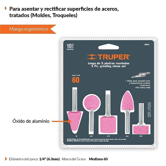 Amazon.com: TRUPER JPM-5 Grinding Stone Sets, General Purpose. Power Tool. 5 Pack: Home Improvement