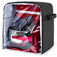 Luxja Dust Cover for 4.5-Quart and 5-Quart KitchenAid Mixers (with a Bottom Padding Pad), Dust Cover (Clear Front Panel…