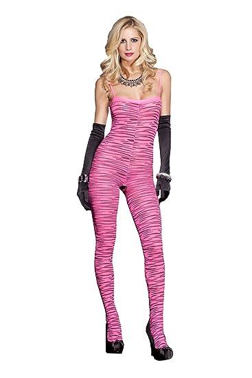 bd80aa4acc2 Amazon.com  Music Legs Women s Zebra Print Bodystocking