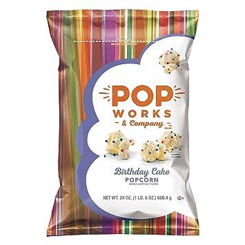Amazon Popworks And Company Birthday Cake Popcorn 24 Oz