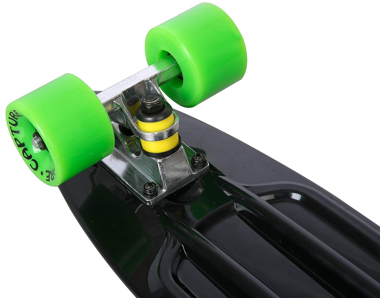 capture Mini Street Cruiser Skate 56cm 22.5 Skateboard R/étro Vintage Roulements ABEC-7 pour la Pratique en Ville Parcs /…