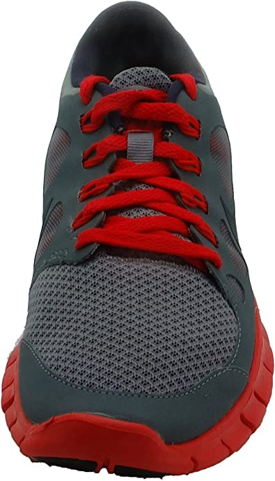 red colour nike shoes