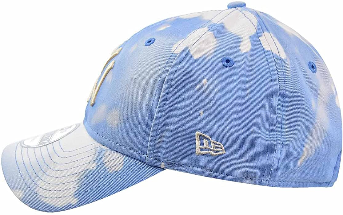 9383f465723f6 New York Yankees Bleached Out 9Twenty Men s Strapback Hat Cap Blue White  11520520