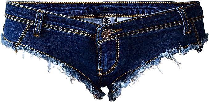 Mamamoo Pantalones Cortos Vaqueros Para Mujer Color Azul Oscuro Amazon Es Ropa Y Accesorios