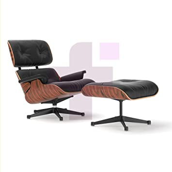 eames lounge chair and ottoman 100 italian genuine black leather