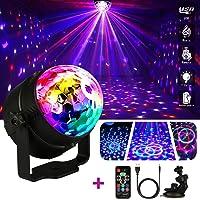 LED Bola de Discoteca,Emooqi Strobe Light sonido bola de discoteca LED Party lámpara + 5-7horas No hay necesidad de…