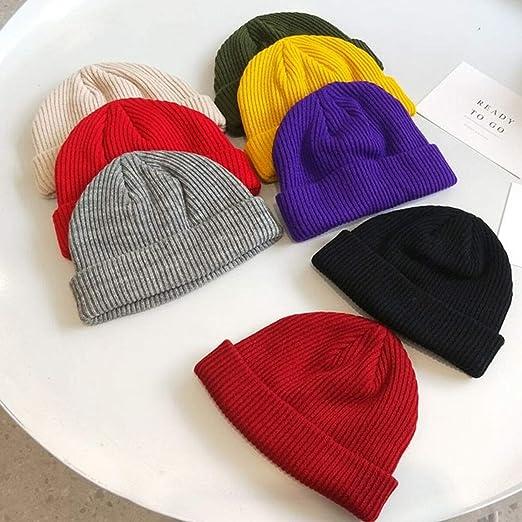 New Unisex Men Women Beanie Hat Warm Ribbed Winter Turn Ski Fisherman Docker Hat