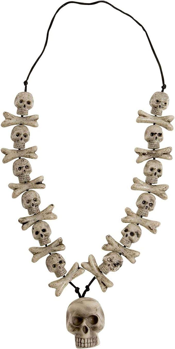 Skull Phantom Hallowen Fancy Dress COstume Jewellery Set Necklace /& Earring