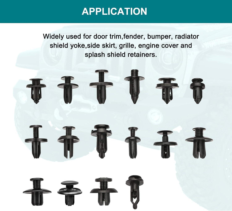 4 Layer 650PCS Fastener Clips Retainer Rivet Bumper Door Panel Fender 6Pc Tool