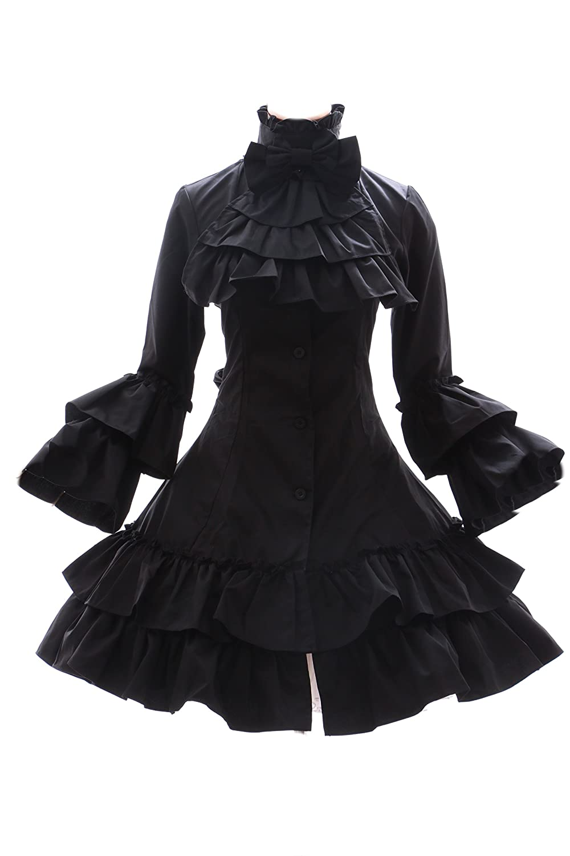 JL-566 schwarz Gothic Punk Visuel Kei Kera Lolita Kleid Kleid Kleid Kostüm dress Cosplay (EUR Gr. XL) 2b2aa1