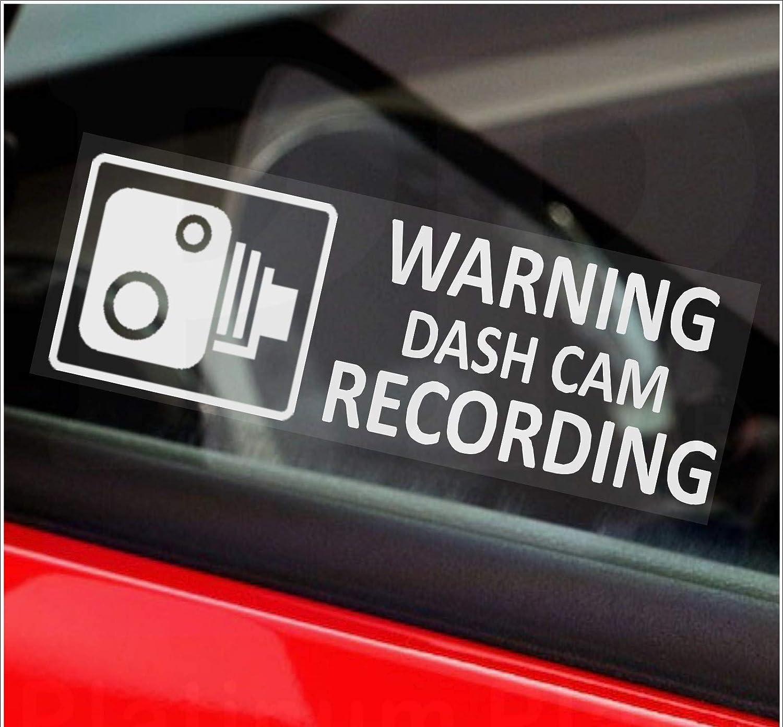 2018 Warning On Board Camera Recording Car Window Truck Auto Vinyl Sticker D