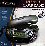 Memorex MC2485 Dual Alarm AM/FM Clock Radio Telephone W/CID Black/Silver Finish (Discontinued by Manufacturer)