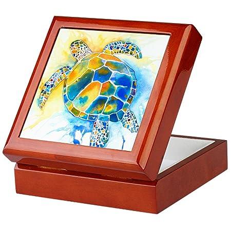 Cafepress More Sea Turtles Keepsake Box Finished Hardwood