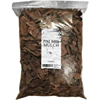 Pine Bark Mulch, 100% Natural Pine Bark Mulch, House Plant Cover Mulch, Potting Media, and More (4qt)
