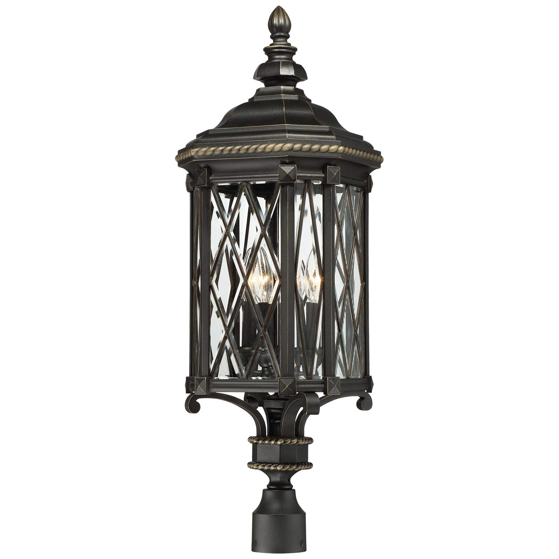 Minka Lavery Minka, 11.00 inches 9326-585 Transitional Four Bexley Manor Collection in Blackfinish, 11.00 inchesFour Light Post Mount