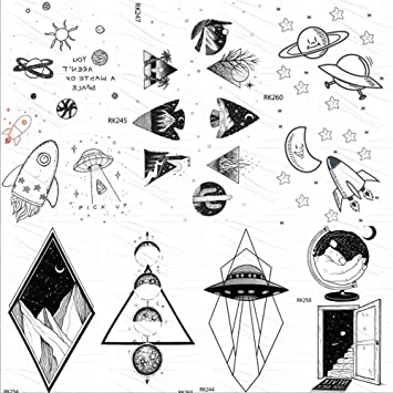 Tatuajes Temporales Niños Pequeños Artilugios Universo Galaxy ...