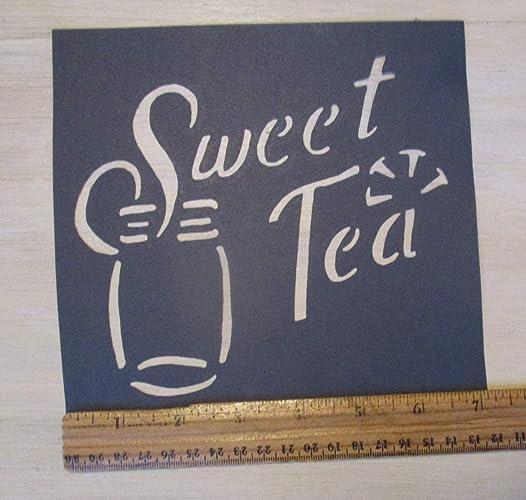 Amazon com: Vintage look SWEET TEA MASON JAR new calligraphy