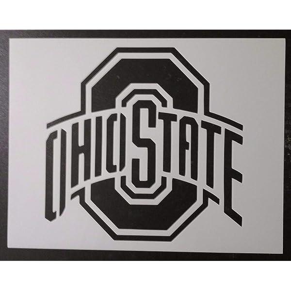 "Ohio State Buckeyes 11/"" x 8.5/"" Custom Stencil FAST FREE SHIPPING"