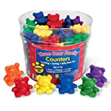 Learning Resources Three Bear Family Counter Set - Rainbow Set of 96