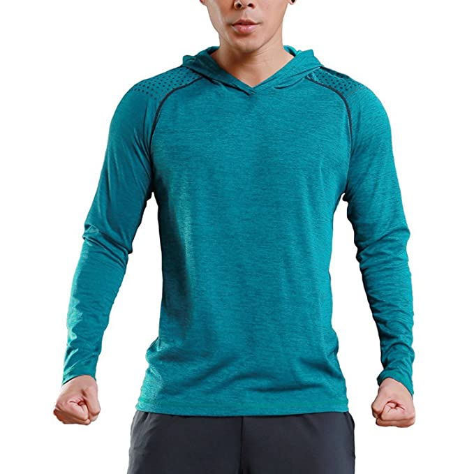 c8695c116ac7 TBMPOY Men s Gym Workout Pullover Lightweight Fitted Thin Fitness  T-Shirt(01 Blue
