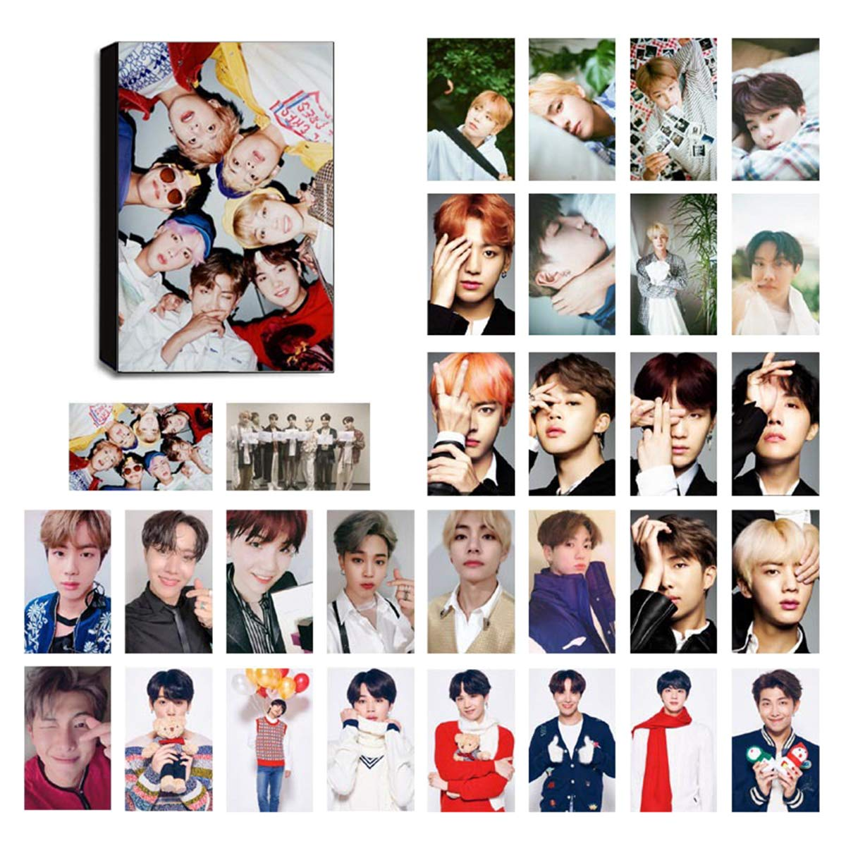 Calendars, Planners & Cards 1 Pc Hot Kpop Bts Bangtan Boys Love Yourself Album Photo Photocards Postcards Poster Greeting Card Business Cards