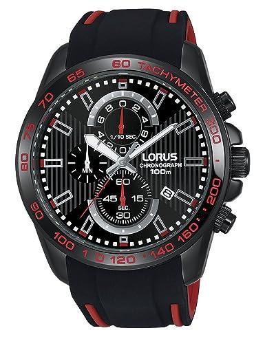 Lorus Mens Chronograph Quartz Watch With Silicone Strap Rm387cx9