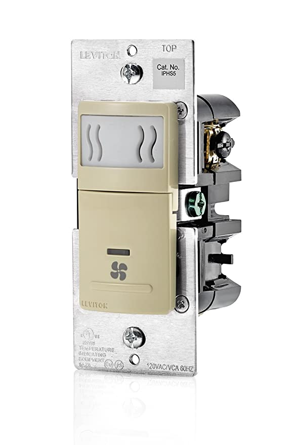 Leviton IPHS5-1LI Humidity Sensor and Fan Control, Single Pole, Ivory: Amazon.es: Bricolaje y herramientas