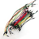fitTek 65 Pcs Assorted Length Multicolored Flexible Solderless Breadboard Jumper Wires