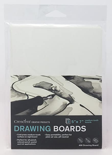 40 Count Cold Press 5 x 7 Size 5 by 7 Bulk Pack Crescent Creative Products Crescent #99 Illustration Board