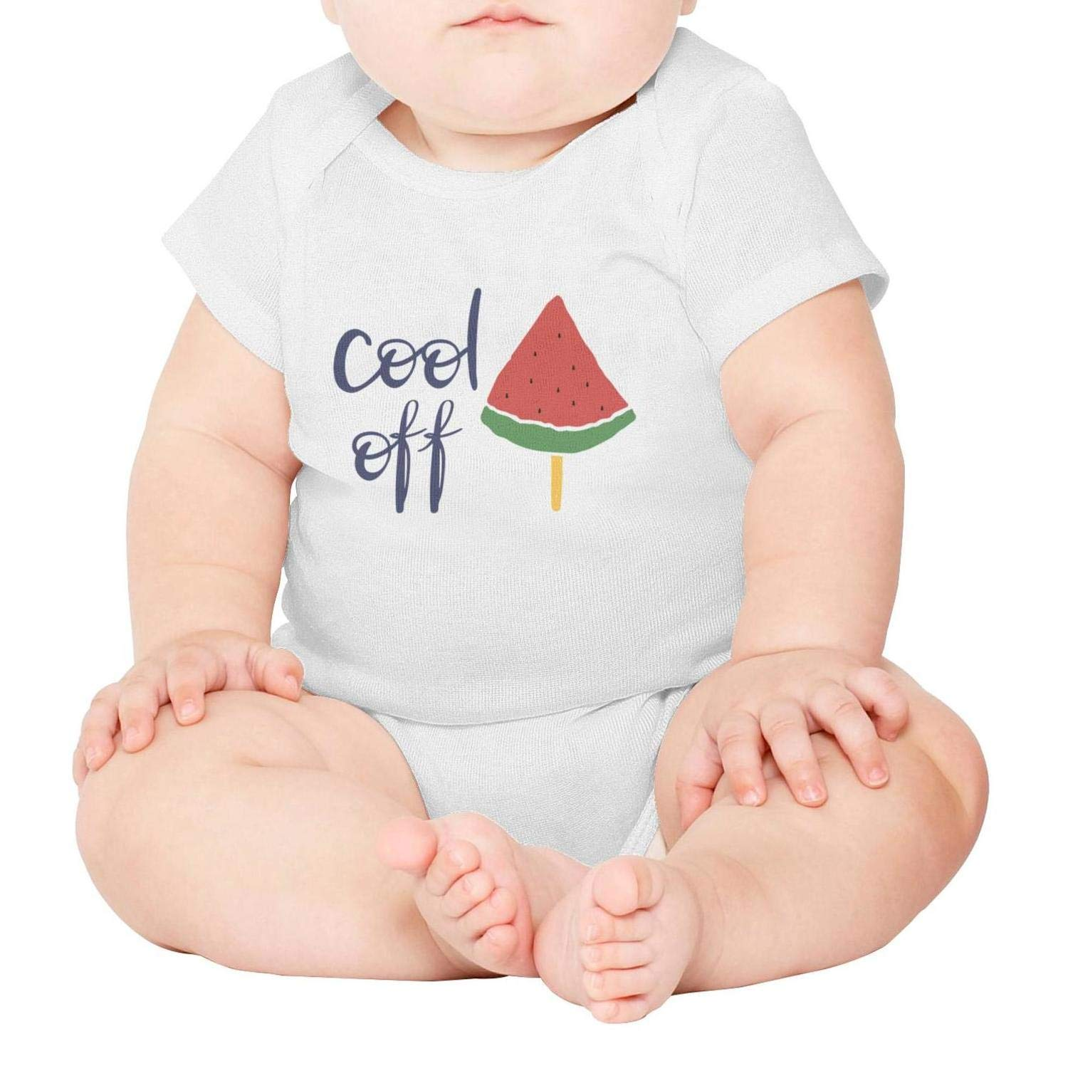 National ice Cream Day Watermelon on a stic Short Sleeve Natural Organic Baby Onesie Romper Cotton 100/% for Infant Boys Girls