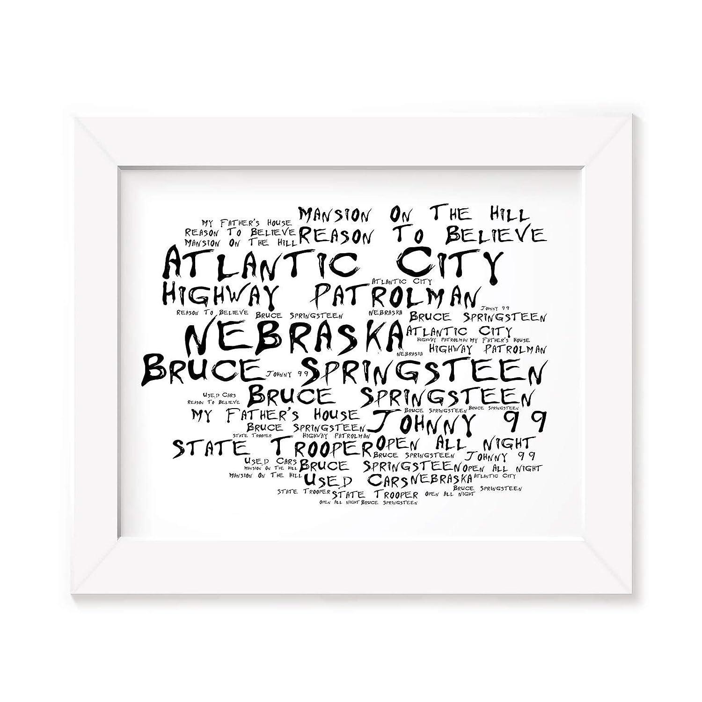 Bruce Springsteen Poster Print - Nebraska - Letra firmada regalo arte cartel: Amazon.es: Hogar